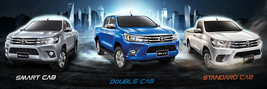 Toyota Hilux Revo Single Cab, Extra Smart Cab and Double Cab